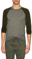 Velvet by Graham & Spencer Baseball Melange Slub LS Double Layer Tee