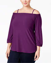 INC International Concepts Plus Size Off-The-Shoulder Top, Only at Macy's