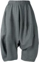 Comme des Garcons drop crotch shorts - women - Polyester/Wool - XS