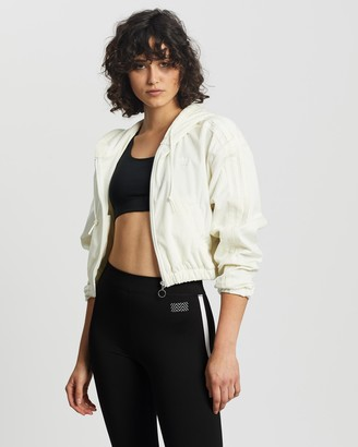 adidas Women's White Hoodies - Hooded Track Top - Size 6 at The Iconic
