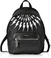 Neil Barrett Black and White Nylon Classic Backpack