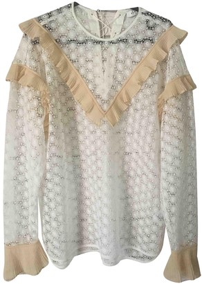 Sandro White Lace Tops