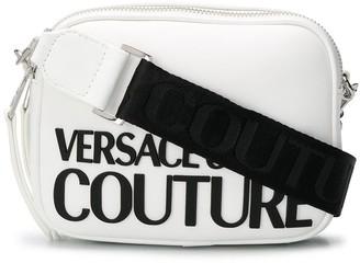 Versace Logo Print Detachable Strap Satchel Bag