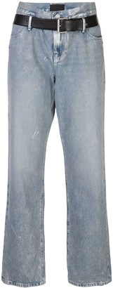 RtA Denim Belted Boyfriend Jeans