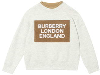 Burberry Fabbio Logo Patch Sweatshirt