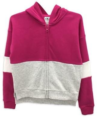Athletic Works Girls Colorblock Fleece Zip-Up Hoodie, Sizes 4-18 & Plus