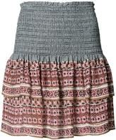 Veronica Beard Printed Mini Ruffled Skirt