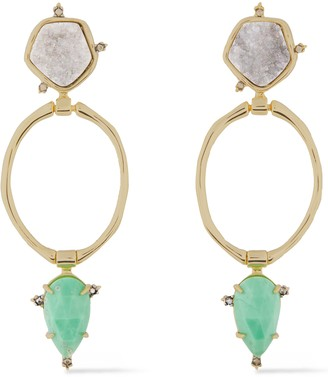 Alexis Bittar Gold-tone Stone Earrings