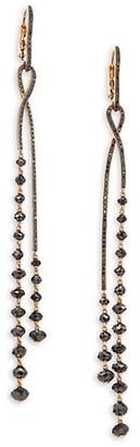 Etho Maria Leyla 18K Rose Gold 11.30 TCW Black Diamond Twist Earrings