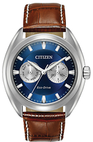 Citizen Day Date Leather Strap Watch