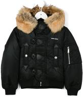 DSQUARED2 fur hood padded jacket