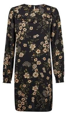 Dorothy Perkins Womens Black Floral Print Shift Dress, Black