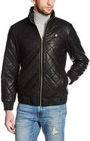G Star Men's Meefic Quilted Faux Leather Overshirt Jacket