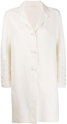 Ermanno Scervino Pearl-Embellished Mid-Length Coat