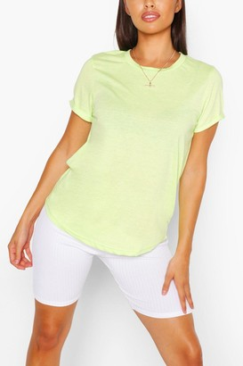 boohoo Roll Up Sleeve Basic T-Shirt