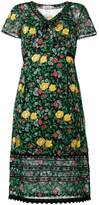 Coach floral print semi-sheer dress