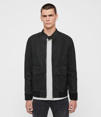 AllSaints Amhurst Leather Aviator Jacket