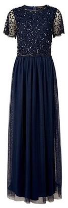 Dorothy Perkins Womens **Showcase Tall Navy Tina Maxi Dress