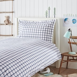 The White Company Oliver Check Bed Set, Multi, Single