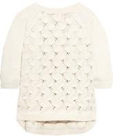 Raoul Paneled Open-Knit Cotton-Blend Sweater