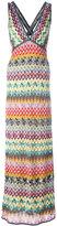 Missoni tweed long dress - women - Silk/Polyester/Spandex/Elastane/Viscose - 42