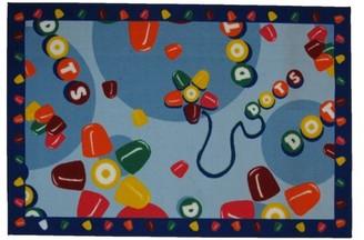 Fun Rugs Tootsie Roll Dots Kids Rugs
