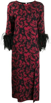 16Arlington Billie printed feather dress