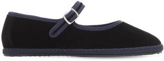 Vibi Venezia 10mm Mary Jane Nero Velvet Loafers