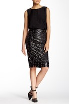 Tov Faux Leather Studded Cutout Skirt