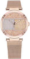 Tommy Hilfiger Women's Rose Gold-Tone Stainless Steel Mesh Bracelet Watch 32mm