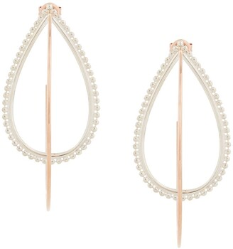 Natalie Marie 9kt rose gold and silver Dotted Hina hoops