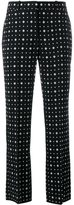 Givenchy printed straight leg trousers - women - Viscose/Acetate/Spandex/Elastane/Silk - 36