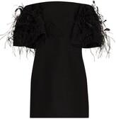 Valentino Feather Embroidered Mini Dress