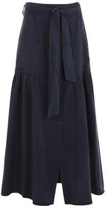 Suzy D Utility button through Maxi skirt