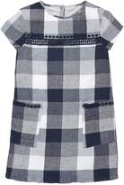 Very Girls Embroidered Check T-Shirt Dress