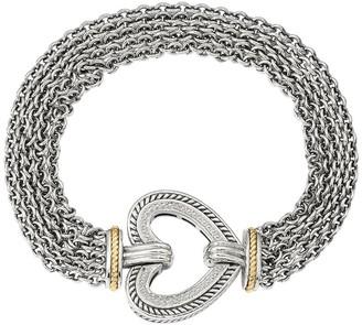 Sterling & 14K Diamond Accent Heart Bracelet
