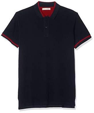 Celio Men's PEBRAID Polo Shirt, Grey Gris Chine