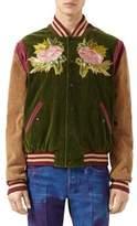 Gucci Washed Velvet Corduroy Bomber Jacket