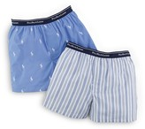 Ralph Lauren Underwear Boys' Woven Boxers 2 Pack - Sizes XS-XL