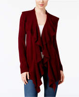 Karen Scott Ruffled Asymmetrical Cardigan, Created for Macy's