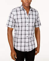 Alfani Men's Geometric Plaid Shirt, Only at Macy's
