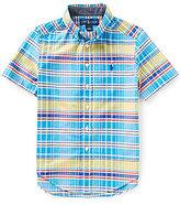 Ralph Lauren Little Boys 2T-7 Madras Plaid Short-Sleeve Oxford Shirt