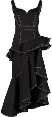Alexander McQueen Asymmetric Midi Denim Dress