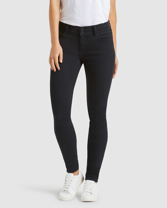 Jeanswest Women's Black Skinny - Hip Hugger Skinny Jeans Black Night - Size One Size, 16 Regular at The Iconic