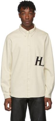 Helmut Lang Off-White Masc Button-Down Shirt