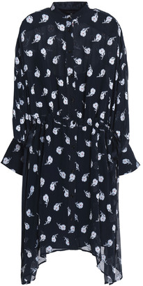 Rag & Bone Draped Fil Coupe Silk Dress