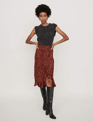 Maje Printed skirt