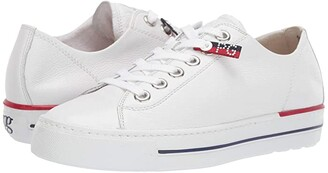 Paul Green Cobb Flat (White Leather) Women's Shoes
