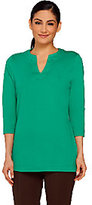 Isaac Mizrahi Live! Essentials Split Neckline Knit Tunic