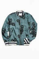 Urban Outfitters Snake Print Tencel Bomber Jacket